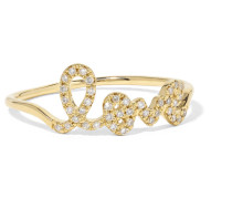 Love Ring aus 14 Karat  mit Diamanten