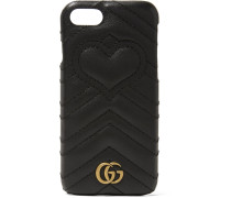 Gg Marmont Iphone 7-hülle aus Gestepptem Leder