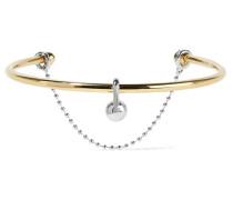 Barbell Chain Halsreif mit - und Rhodiumauflage