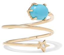 Mini Cosmo Ring aus 14 Karat