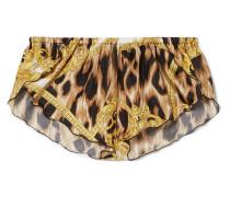 Shorts aus Bedrucktem Seiden-twill