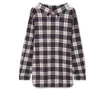 Swing Oversized-hemd aus Kariertem Baumwollflanell