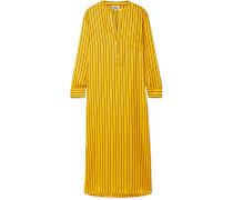 Georgia Oversized-nachthemd aus Glänzendem Seiden-twill