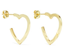 Small Open Heart Creolen aus 18 Karat