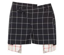 Asymmetrische, Mehrlagige Shorts aus Woll-crêpe