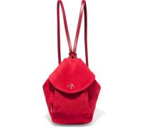 Fernweh Mini Rucksack aus Veloursleder