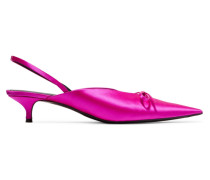 Knife Slingback-pumps aus Satin