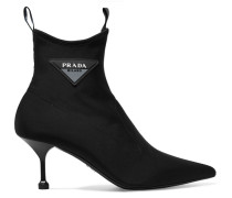 Sock Boots aus Scuba mit Logoapplikation