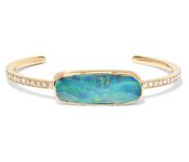 Armspange aus 18 Karat  mit Opal und Diamanten