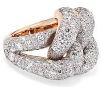 Tango Ring aus 18 Karat Rosé und Rhodiniertem Silber