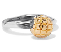 Dichotomy Ring aus Oxidiertem Silber