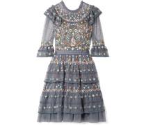 Paradise Gestuftes Kleid aus Besticktem Tüll