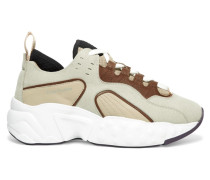 Manhattan Sneakers aus Leder, Veloursleder und Mesh