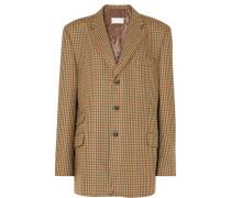Karierter Oversized-blazer aus Wolle
