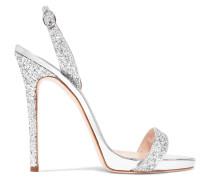 Coline Slingback-sandalen aus Metallic-leder