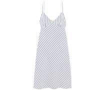 Gestreiftes Kleid aus Piqué
