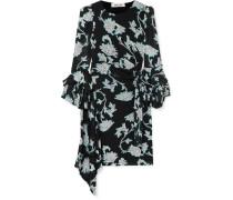 Faridah Minikleid aus Stretch-voile