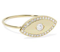 Large Evil Eye Ring aus 18 Karat  mit Diamanten