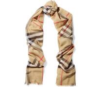 Karierter Schal aus einer Woll-seidenmischung