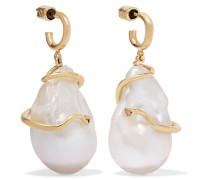 Medusa Ohrringe aus 9 Karat  mit Perlen