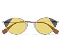 Silberfarbene Cat-eye-sonnenbrille
