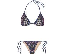 Mare Donna Triangel-bikini aus Strick in Häkel- und Metallic-optik