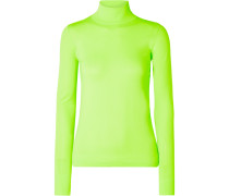 Oberteil aus Neongrünem Stretch-strick