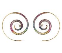 Ohrringe aus 18 Karat Grau mit Mehreren Steinen