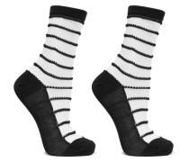 Isabella Set aus Zwei Paar Socken aus einer Gestreiften Baumwollmischung