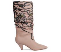 Garavani Bedruckte Kniehohe Stiefel aus Leder