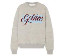 Bedrucktes Sweatshirt aus Beflocktem Baumwoll-jersey