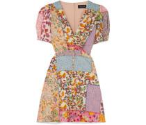 Lea Bedrucktes Minikleid aus Seersucker aus einer Baumwollmischung