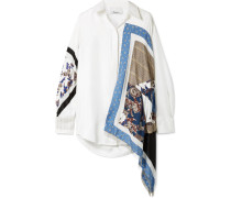 Bedrucktes Oversized-hemd aus Seiden-twill