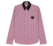 Hemd aus Baumwollpopeline mit Gingham-karo