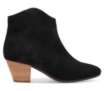 Dicker Ankle Boots aus Veloursleder