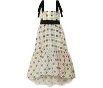 Benita Bedrucktes Midikleid aus einer Vorgewaschenen Baumwollmischung und Seidenorganza