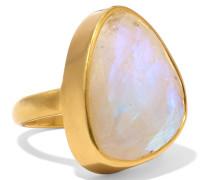 Ring aus 18 Karat Gold mit Mondstein
