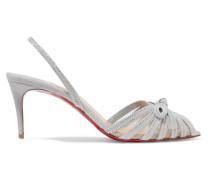 Araborda 70 Slingback-sandalen aus Veloursleder und Mesh