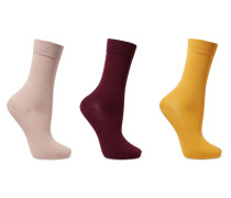 Set aus Drei Paar Socken aus einer Baumwollmischung