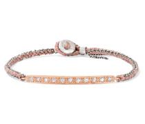 Armband aus 14 Karat , Sterlingsilber und Seide