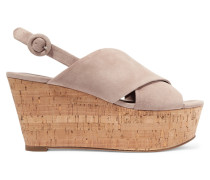 Juno Wedges aus Veloursleder