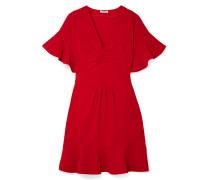Kleid aus Cady mit Raffungen