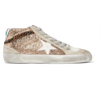 Mid Star Sneakers aus Leder und Veloursleder in Distressed-optik