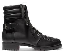 Who Runs Ankle Boots aus Leder