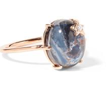 Mini Galaxy Star Ring aus 18 Karat