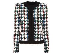 Karierte Jacke aus Tweed in Metallic-optik