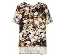 T-shirt aus Seide mit Floralem Print