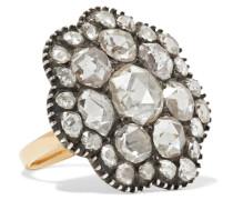 Ring Aus Den 1850er-jahren Aus gewaschenem Silber Mit Diamanten