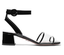 Sandalen aus Lackleder und Pvc