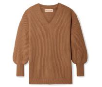 Napoli Gerippter Oversized-pullover aus einer Baumwoll-kaschmirmischung